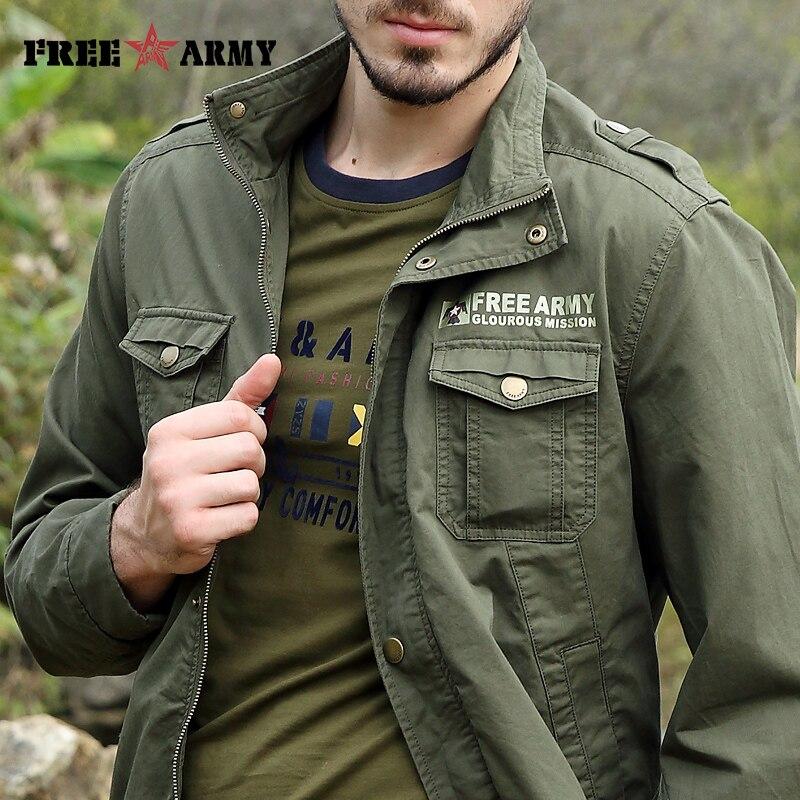FREIE ARMEE Neue Männer Jacke Jean Military Plus 4XL Grün Baumwolle - Herrenbekleidung - Foto 5