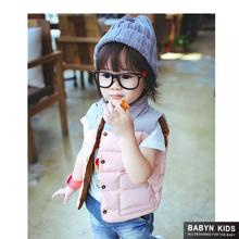 new arrival hot 2016 Child vest boys girls kid autumn winter patent leather children s clothing