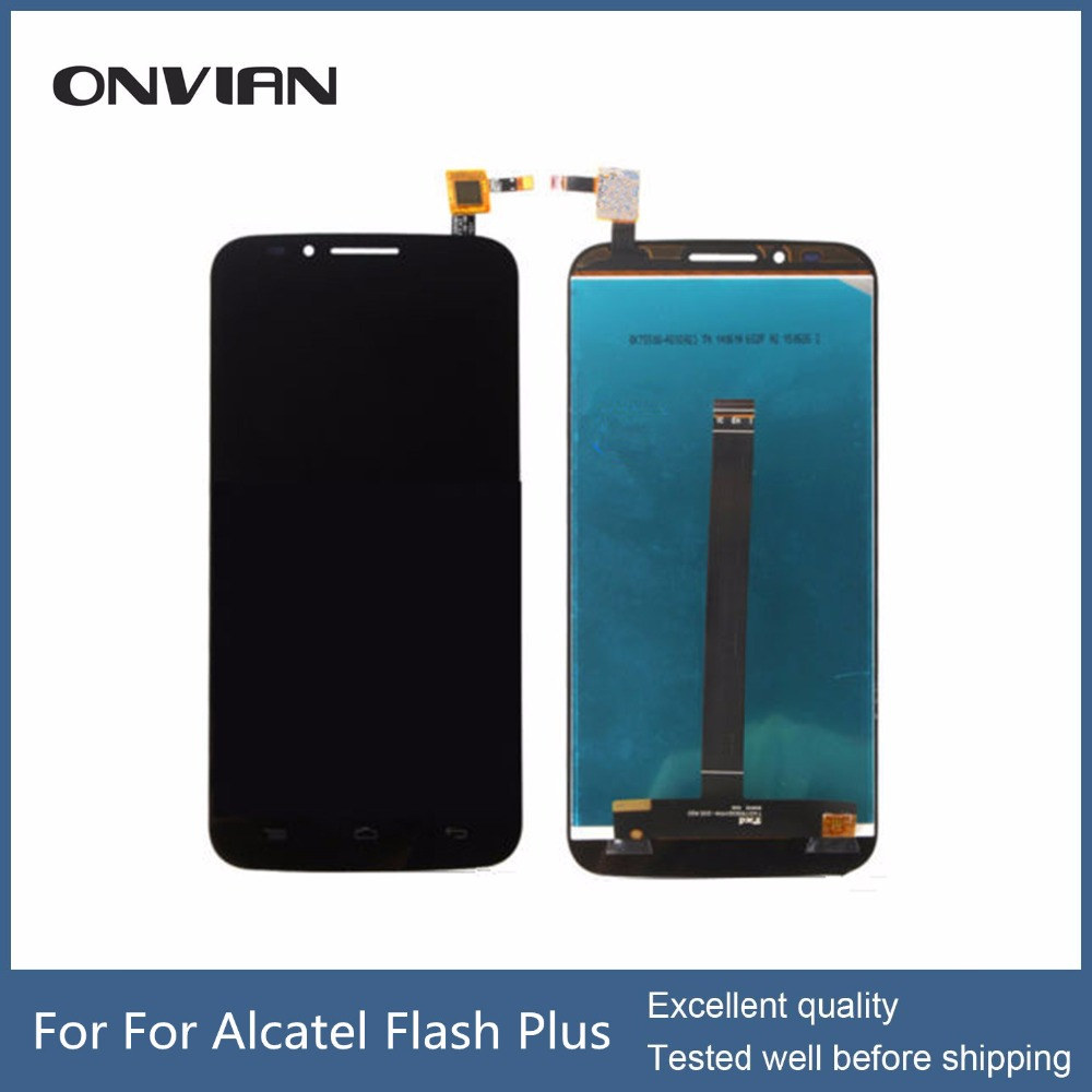 ФОТО For Alcatel Flash Plus Original LCD display and Touch Screen Assembly perfect part For Alcatel Flash Plus OT7054 lcd digitizer