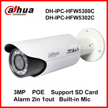 DAHUA IPC-HFW5300C 3MP Zoom Lens Full 1080P 30M Night Vision Outdoor Waterproof Network IP Camera English Version IPC-HFW5302C