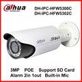 Ipc-hfw5300c dahua 3mp lente de zoom completo 1080 p 30 m de visión nocturna impermeable al aire libre cámara de red ip versión inglés ipc-hfw5302c