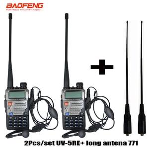 2pcs/set BaoFeng UV 5RE UV-5RE Walkie Talkie Two Way Radio UV5RE Radio 136-174MHz&400-520 MHz+ soft long antenna 771