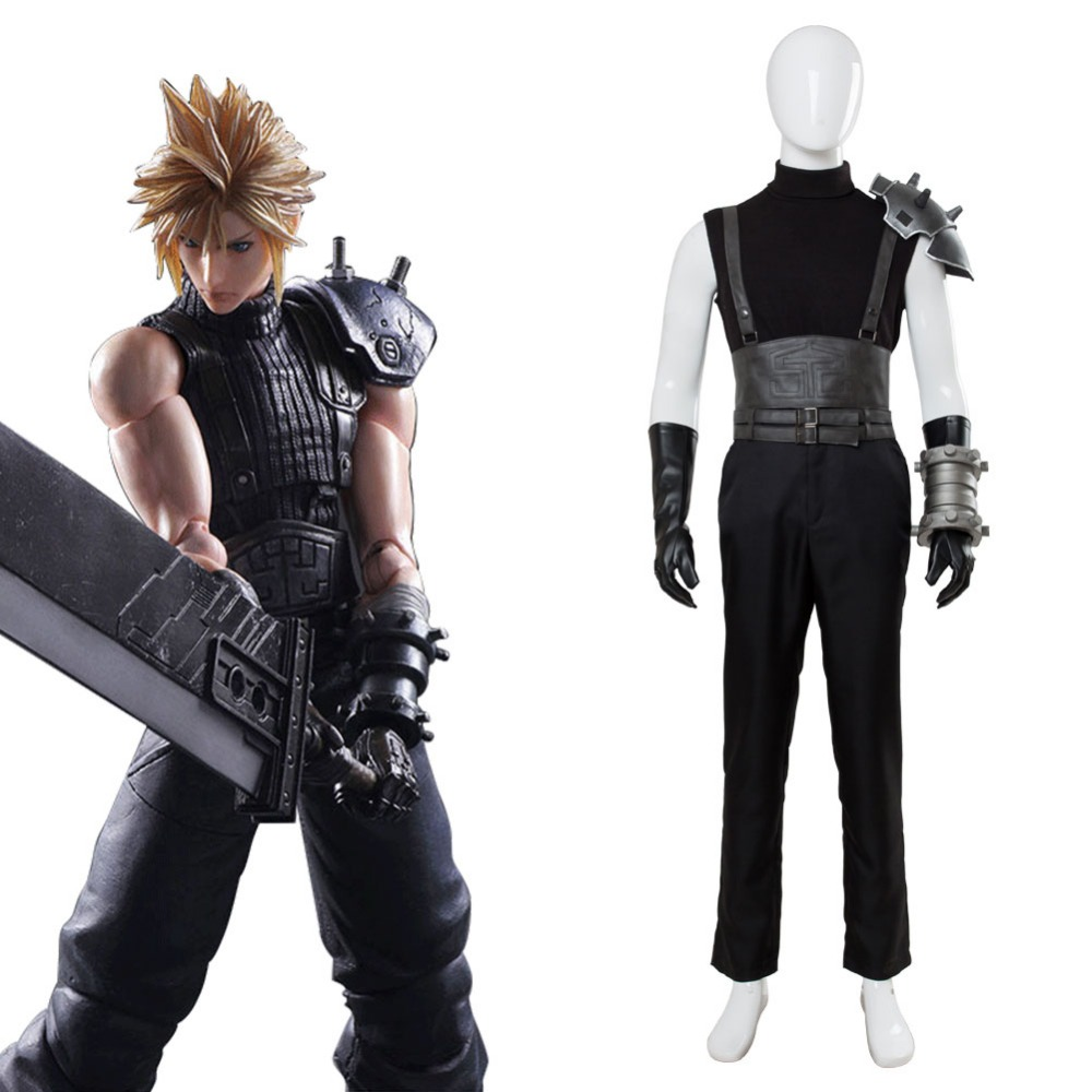 Final Fantasy VII 7 Cosplay Cloud Strife Cosplay Costume Outfit Uniform Full Suit Halloween Party Cosplay Costumes