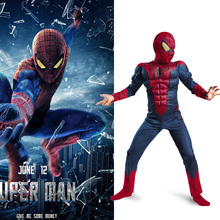 Child Spiderman Movie Character Classic Muscle Cosplay Marvel Boy Amazing Fantasy Party Superhero Halloween Carnival Costume