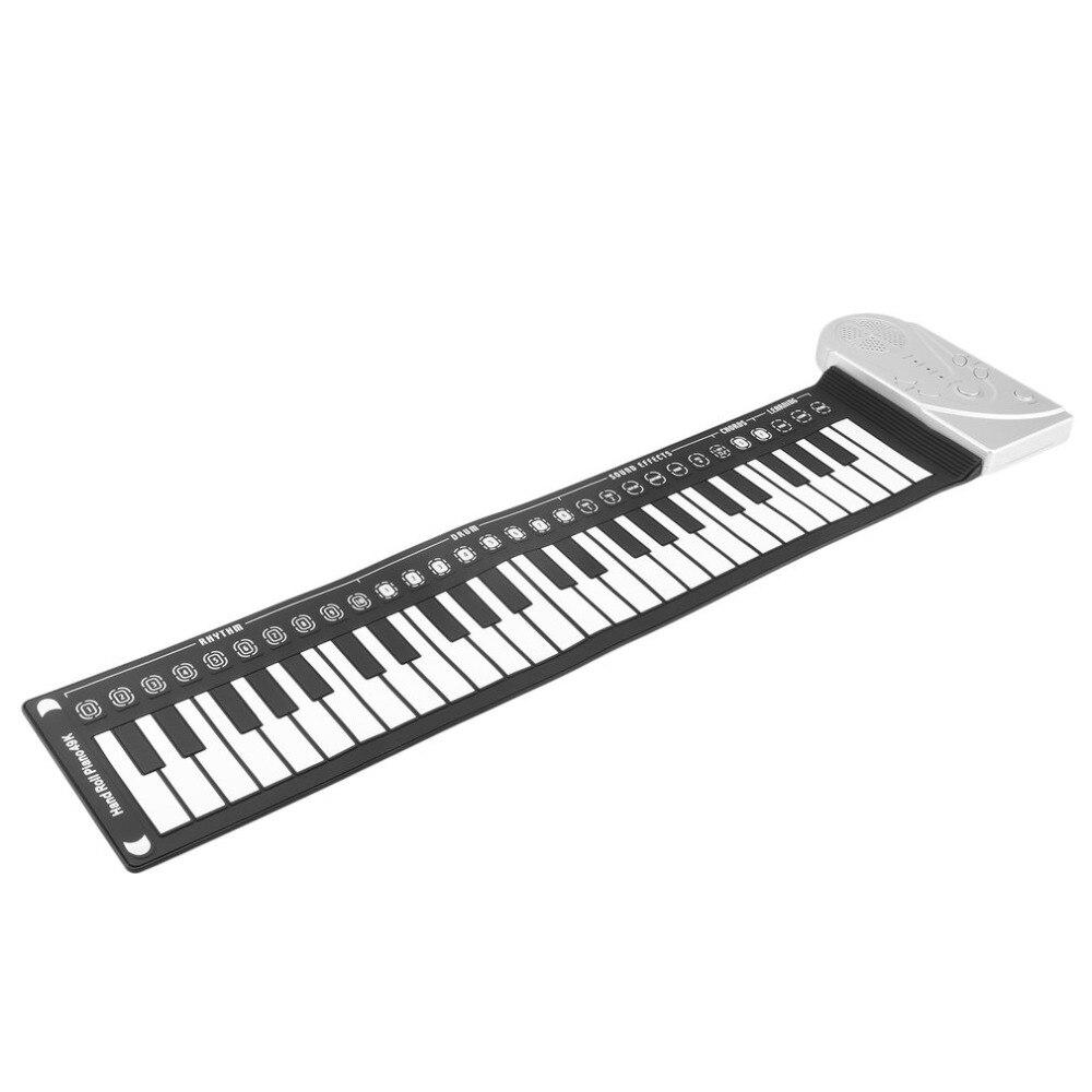 Nouveau 49 Touches Numérique Clavier Piano Main Roll Up Musique Piano électronique Pad Avec Haut-parleurs Organe Flexible Cadeau Pour Enfants étudiant