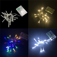 2M Xmas Tree LED String Lights 3*AA Battery Operated Waterproof Fairy LED Christmas Lights For Holiday Party Wedding Decoration 8m 50 led fairy lights battery operated icicle led christmas string lights for outdoor indoor wedding xmas party decoration