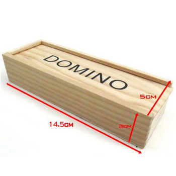 28pcs/set Wooden Dominoes Traditional Board Funny Game Educational Baby Kid Toys Children Gifts