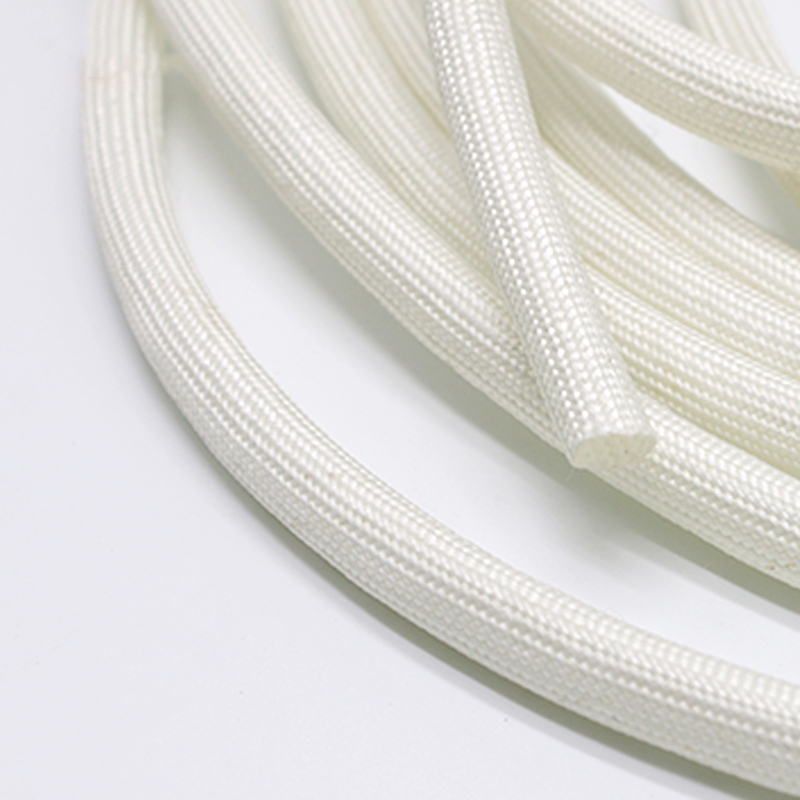 1M 1-25mm Diameter 600 Deg High Temperature Braided Soft Chemical Fiber Tubing Insulation Cable Sleeving Fiberglass Tube