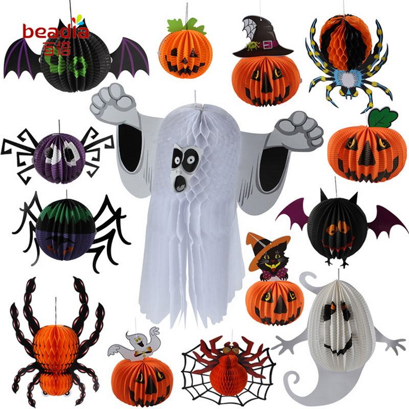 2018 Free Shipping 1-3pcsbag Halloween Bar Decorative Props Phantom Witch Spider For DIY Halloween Decorative supplies
