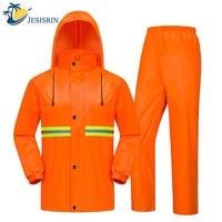 Sanitation Raincoat Wide Night Light Raincoat Set Labor Insurance Reflective Refinement Comfortable Loose Safety Raincoat
