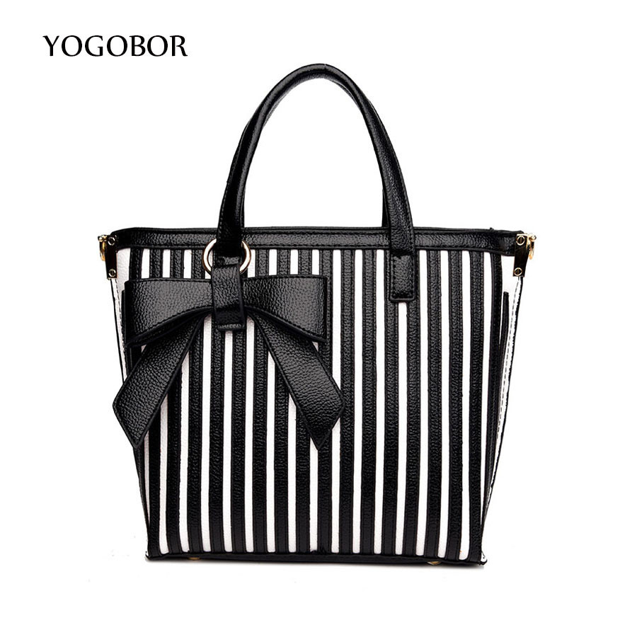 Online Get Cheap Black White Striped Handbag -Aliexpress.com ...