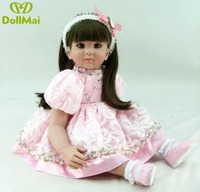 24inch bb reborn Silicone Reborn Baby Doll Toys 60cm Vinyl cute Princess Toddler Doll Girl Present play house Bedtime Toy