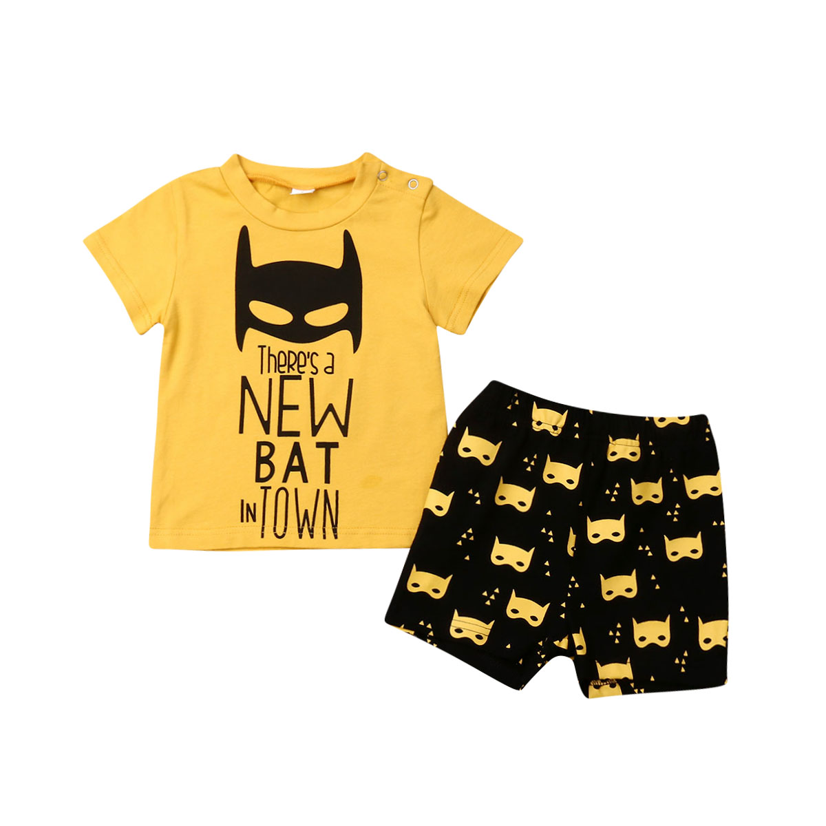 Newborn Toddler Kids Baby Boy Outfit Clothes Sets 0-3Y Cartoon Print T-shirt Tops Pants Legging Clothes