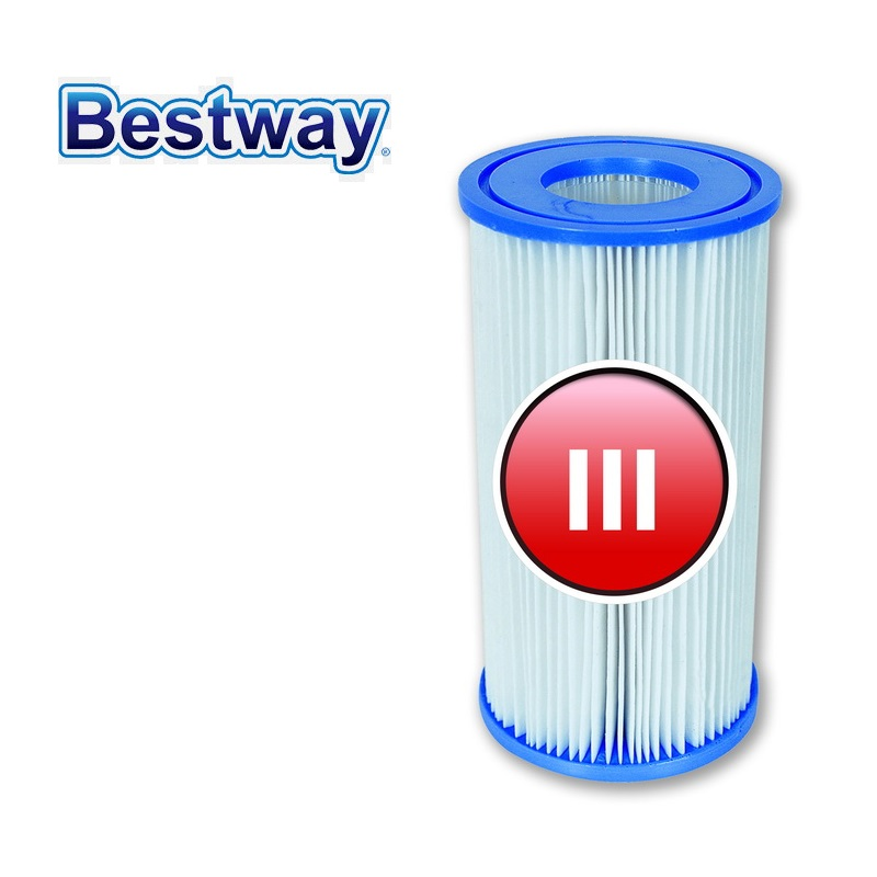 58012 bestway water filter cartridge iii filter core for - Swimming pool cartridge filters pump ...