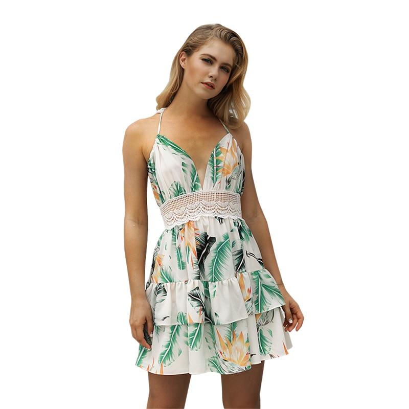 marca famosa Página web oficial incomparable € 15.02 53% de DESCUENTO|vestido playa con espalda descubierta vestidos  verano 2018 ropa mujer talla grande vestido corto estampado floral vestido  ...