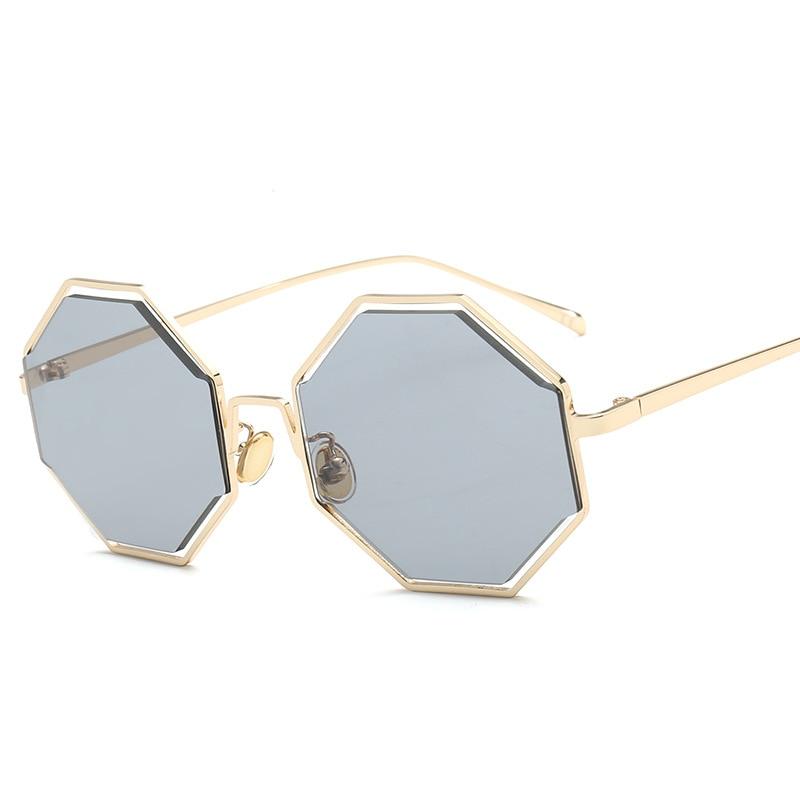 c35ff0181da Vazrobe Hexagonal Sunglasses Women Red Yellow Lens Sun Glasses for Female  Octagonal Shades Fashion Ladies Brand Designer 2018