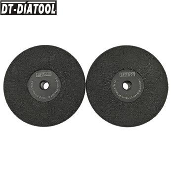 DT-DIATOOL 2pcs/pk Dia 125MM Vacuum Brazed Diamond Flat Disc Grinding Disc Shaping Wheel M14 #30 DIA 5inch Diamond height 37mm