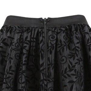 Image 4 - فساتين مشدية من الدانتيل ملابس داخلية كبيرة الحجم تنانير مشدية بسحاب للسيدات ملابس لوليتا ذات قصة قوطية مثيرة باللون الأسود