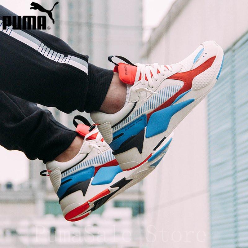 21e226c75790 PUMA RS-X Reinvention Whisper White-Red Blast Men Women Badminton Shoes  369579-