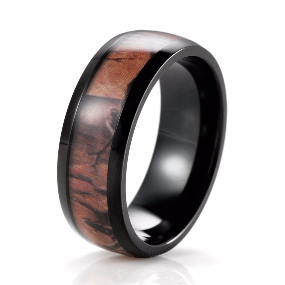 SHARDON wedding and engagement jewelry round men ring black fashion