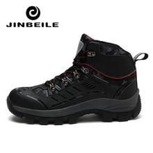 New High Cut Hiking Shoes Waterproof Men Winter Outdoor Boots Sport Climbing Shoes Non-slip plush Warm Lace-up Trekking Sneakers