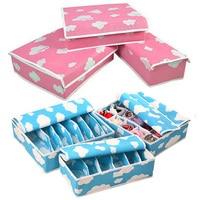 Из трех частей Прекрасный нетканый материал коробка для хранения с крышкой для бюстгальтер Нижнее Бельё для девочек галстук Носки для дево...