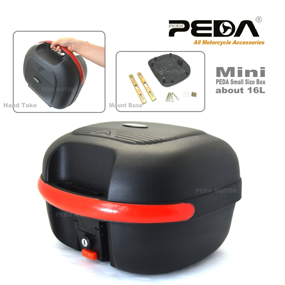 2018 PEDA Motorcycle Top Case 16L e Bike Box ebike luggage Electric Scooter Trunk Tail Box Luggage Baul Motocicleta Bauletto 2018 e bike box ebike luggage electric scooter trunk motorcycle top case 17l tail box luggage white baul motocicleta bauletto