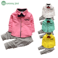 Kids clothes Winter long Sleeve t-shirt + pants suit 2Pcs set baby boys suits sets gentleman toddler boy clothes birthday dress