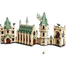 Harri Potter Movies Hogwar Castle Creative Compatible with 4842 Building Block Bricks Toys Children