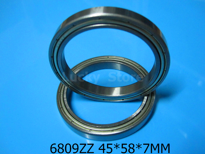 6809ZZ bearing Metal sealed bearing Thin wall bearing free shipping 6809 6809ZZ 45*58*7mm chrome steel deep groove bearing