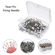 100pcs/box Pearl Needles Round Head Clothing Pin Sewing Pins DIY Decoration Crafts Accessories