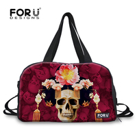 FORUDESIGNS Corpse Bride Designer Women Soft Travel Bag Ladies Carry on Luggage Bag Student Duffle Light Bag with Many Pocket