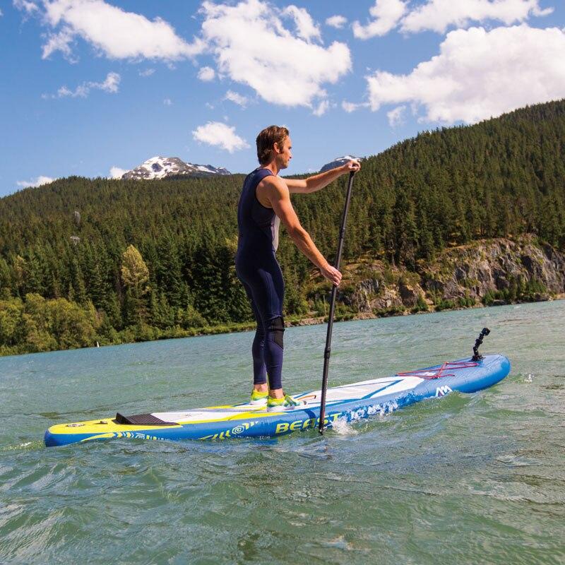 Новый серфинга 320*81*15 см aqua Marina зверь надувные sup стоячего доски для серфинга каяк надувной лодка нога поводок A01013