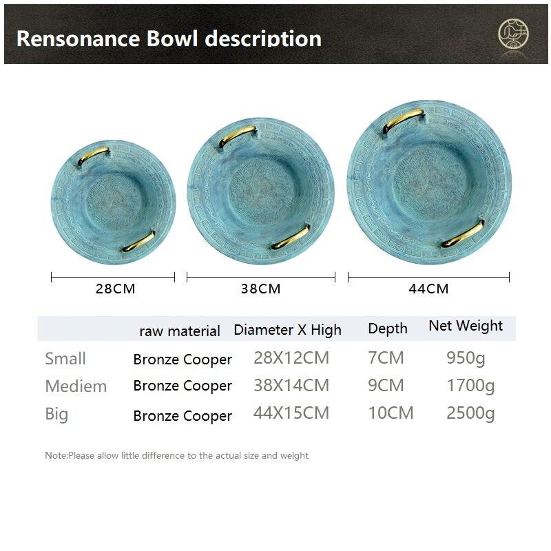 Bronze résonance bol jouet démonstration comportement vagues enfants Science enseignement sida physique jouets enfants tige résonante bassin cadeau - 6
