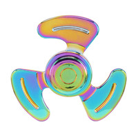 Electroplate Fidget Spinner Rainbow Tri Spinner Fidget Toy Metal Colorful Hand Spinner Autism ADHD Anti Stress