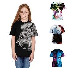 Модная летняя футболка с 3D принтом для девочек и мальчиков, для подростков повседневная одежда
