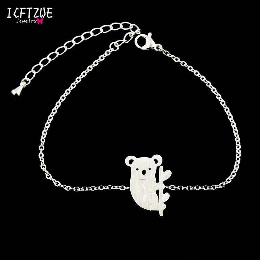 ICFTZWE Goldkette Armband Femme Edelstahl Schmuck Australien Koala - Modeschmuck - Foto 4