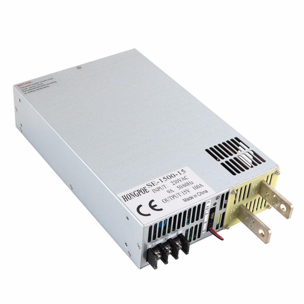 SE-1500-15 15V 100A DC 0-15v power supply 15V 100A ac -dc 15V adjustable power AC-DC High-Power PSU 1500W DC15V yh 1502dd 15v 2a adjustable variable dc power supply