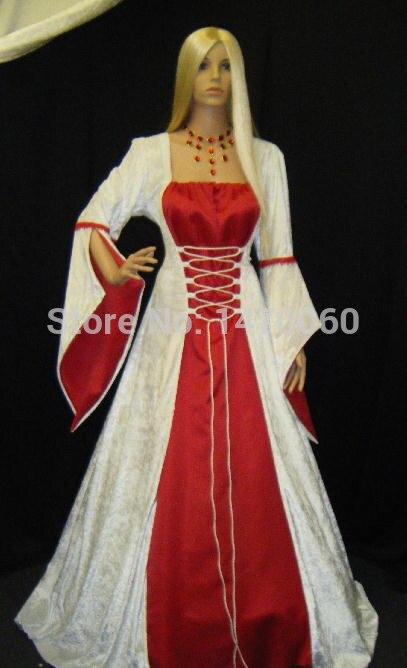 Costumes médiévaux pour femmes robe à la main costumes d'époque Renaissance
