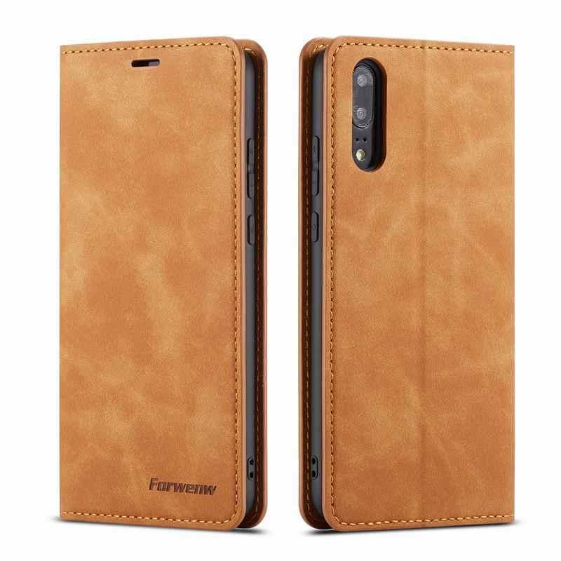 Caso Della Copertura del telefono Per Huawei P20 Lite Pro su p20lite p 20 LITE Opaca di Lusso Magnetico di Vibrazione Del Raccoglitore del Sacchetto di Cuoio huawai P20 Pro Coque