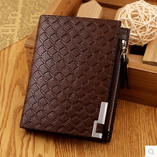 Men's wallet multifunction card holder with coin purse men wallets brand design high quality male genuine leather money bag