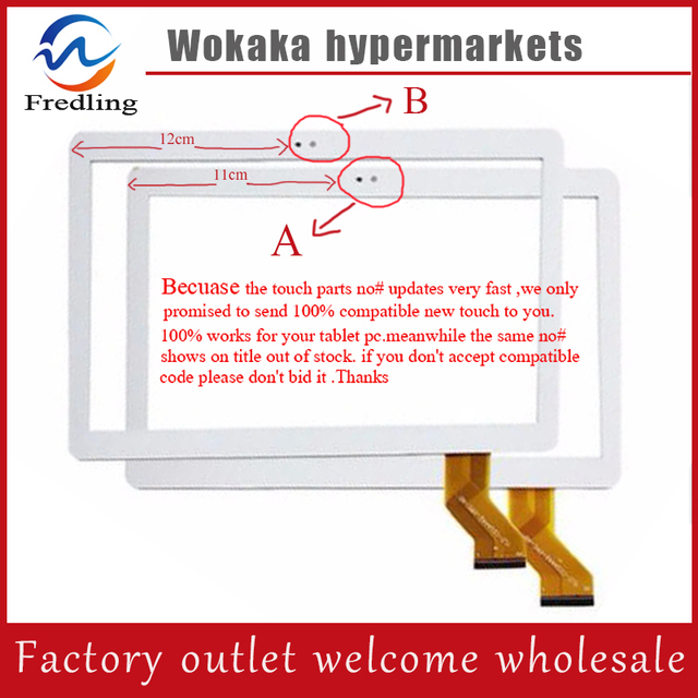 """New touch screen For 10.1"""" Waywalkers C8 H8 Tablet Touch Panel Digitizer Sensor Glass Replacement Free Shipping"""