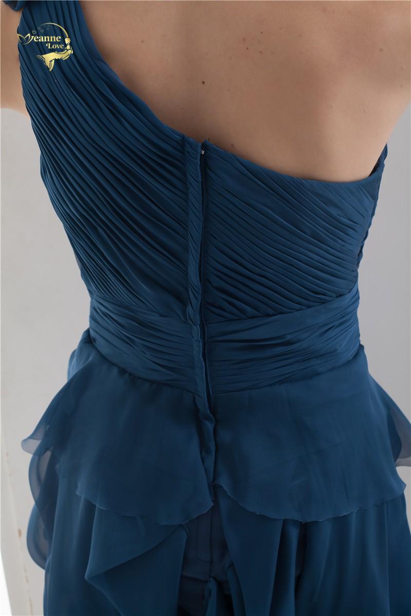 2018 NEW ARRIVAL Cheap Price Vestidos De Formatura Mini Chiffon Fold One Shoulder Flower Short Cocktail Dresses 2018 HCK1235 11