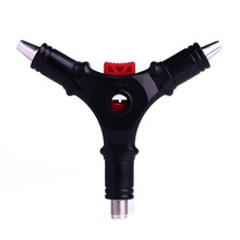 1pc Hand Tool 4 in 1 Multifunctional Network Caxial Cable Stripper F Connector Installation Tool for Cable RG59 RG6