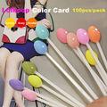 100pcs/pack False Nail Tips Lollipop Color Card Nail Color Sample\Nail Art Tips Display Practice Gel Nail Polish Tools Equipment