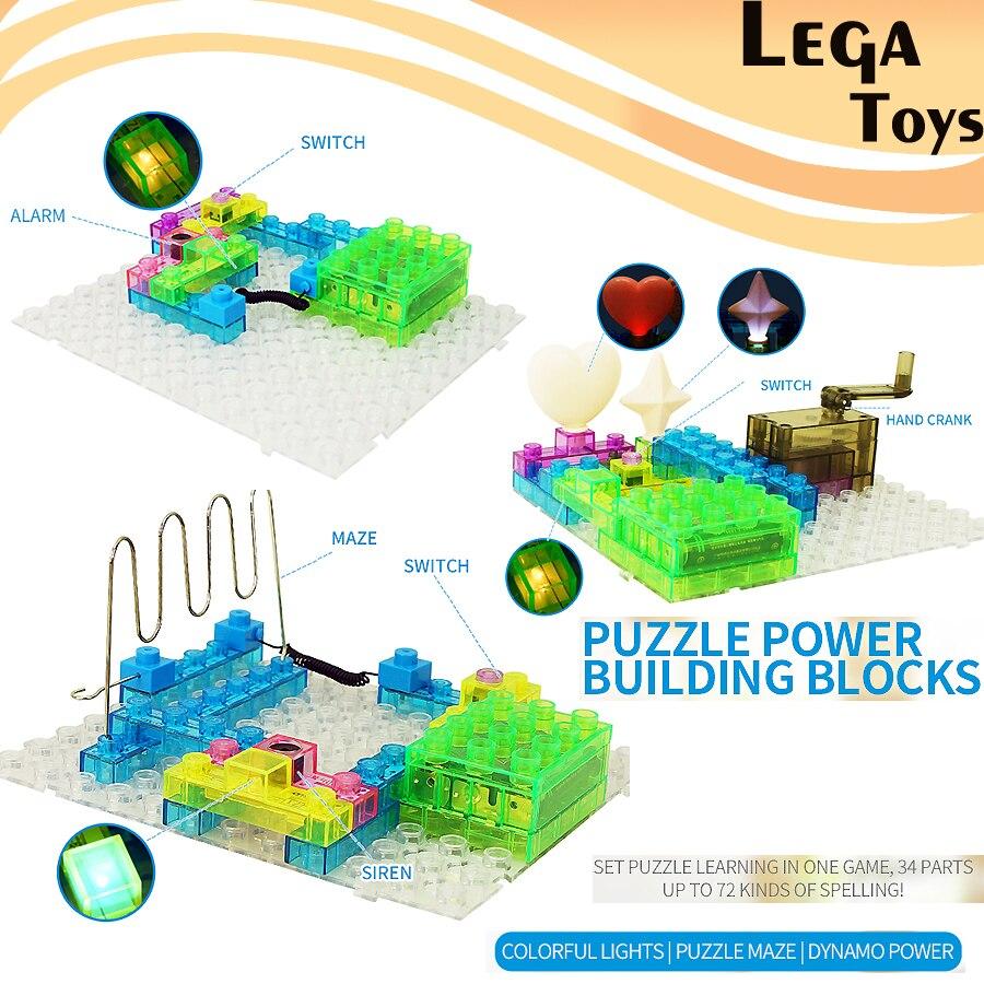 Blocs électroniques 72 Projets Circuit Intégré Kits Physique Kits D'expériences Scientifiques 34 pièces STEM jouets Éducatifs pour enfants