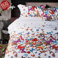 2016 Export 100% Egyptian Cotton Quality High end Western Stye 4 pcs Bedding Sets Butterfly air balloon duvet cover bedsheet