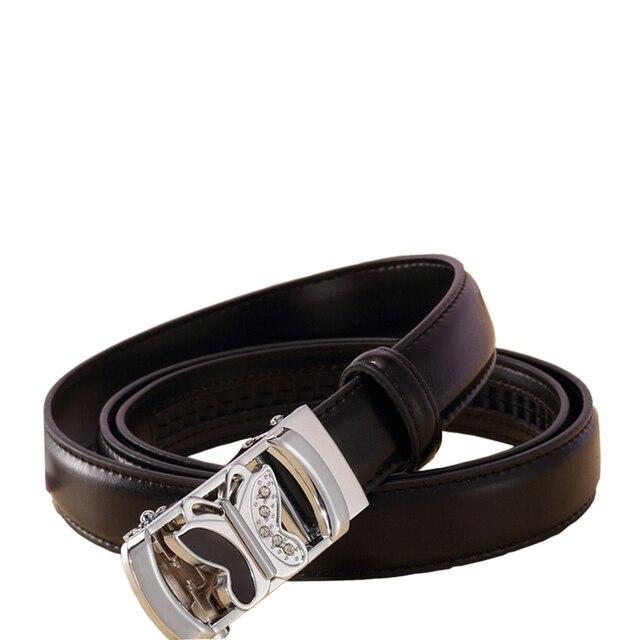 Ремни для женщин мода бабочка печатных металл пряжки ремня Подлинной Натуральной Кожи Сплит Кожаные Ремни для женщин Твердые черный