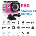 """Ação Video Camcorder câmera F60 4 K Full HD 1080 P LCD de 2.0 """"mergulho 30 M À Prova D' Água pro Esporte DV ir Cam Allwinner 4 K/30fps V3"""