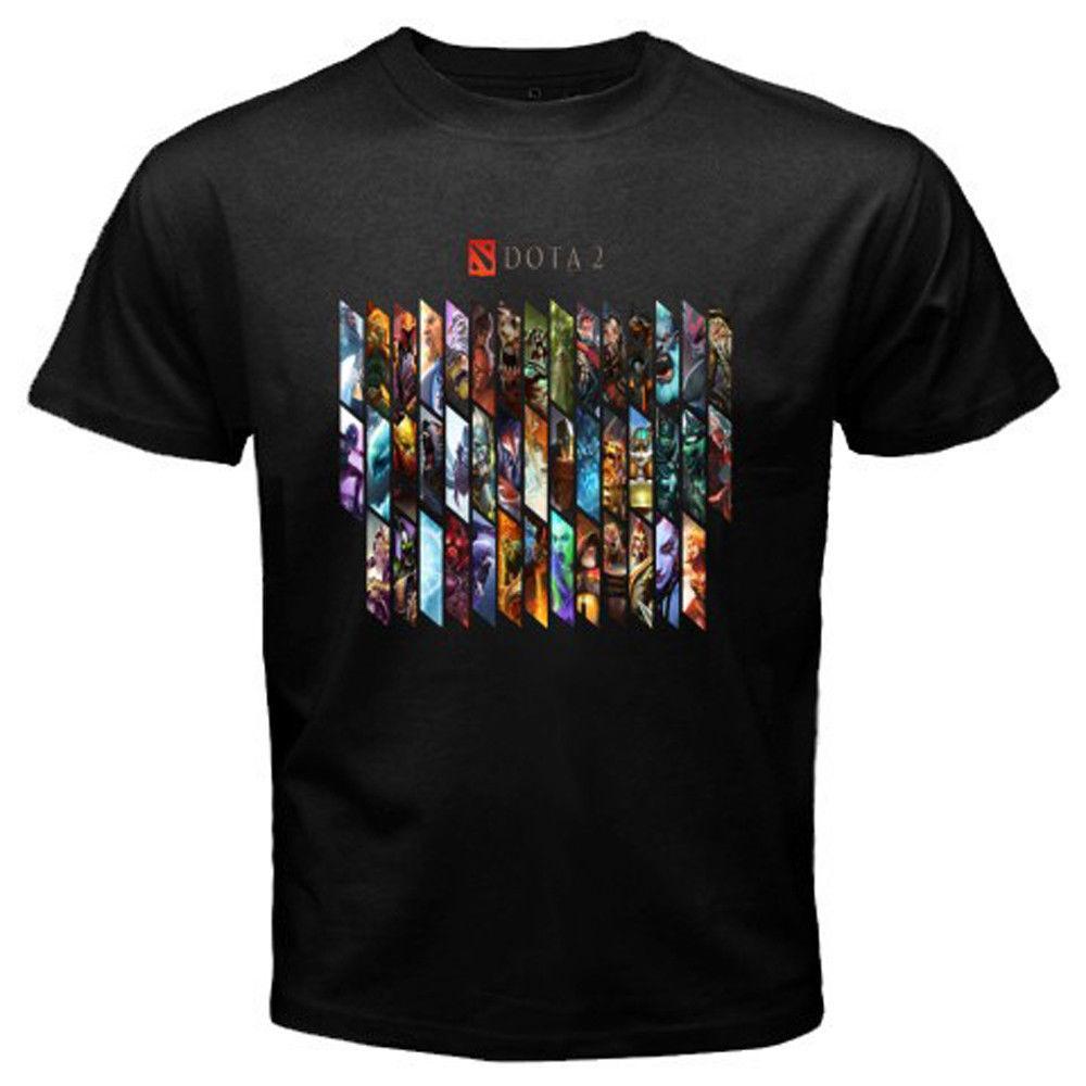 Design tshirt online free shipping - 2017 New Fashion Cool Dota 2 Heroes Multiplayer Online Game Design T Shirt 2017 Tee Shirts